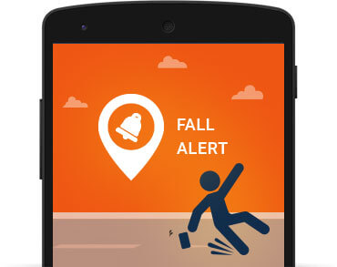 Child GPS Tracker Includes Fall Alert feature.