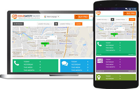 Access online control panel using the best Child Tracking App