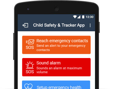 Child GPS Tracker includes SOS alert for dangerous situations